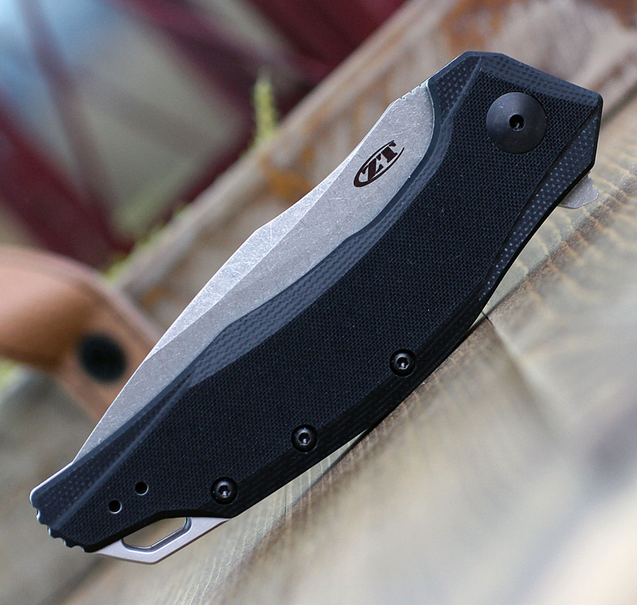 "Zero Tolerance 0357 Assited Open, 3.25"" CPM 20CV Working Finish Plain Blade, Black G-10 Handle"