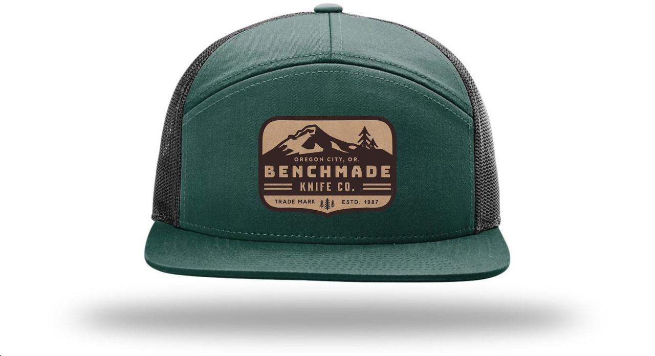 Benchmade Men's Knife Co. 7-Panal Hat, Dark Green/Black Mesh One Size