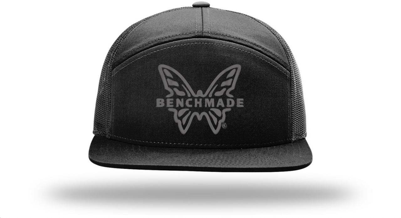 Benchmade Men's Knife Co. 7-Panal Hat, Black/Black Mesh One Size