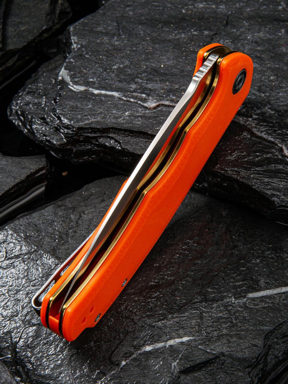 CIVC803D Civivi Praxis Orange 9Cr18MoV Blade G10 Handle Linerlock Clip