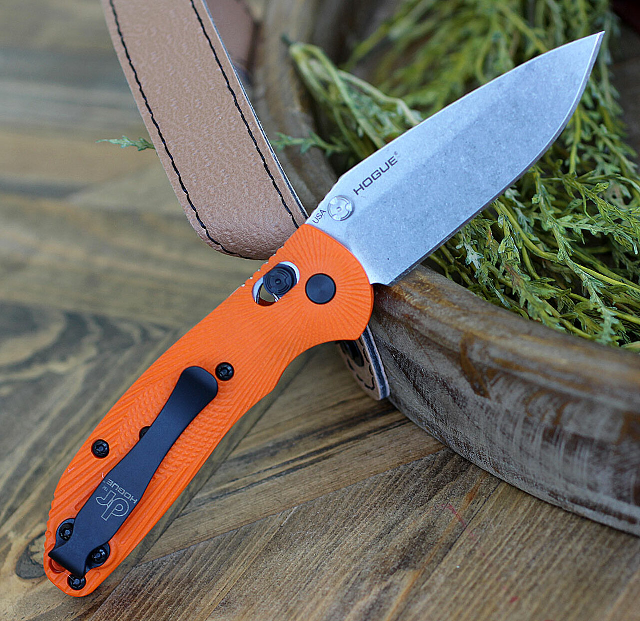 Doug Ritter Mini-RSK®  MK1-G2 Knifeworks Exclusive - Orange/ Stonewashed