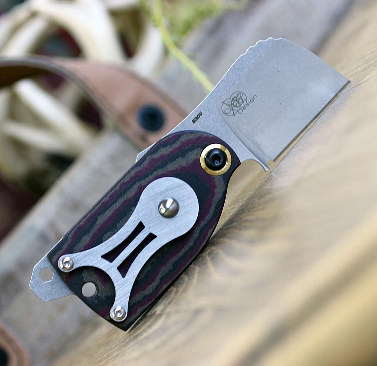 "Benchmade 381 Aller Fumee Cigar Cutter, 1.60"" CPM-S30V Plain Blade, Richlite  Handle"