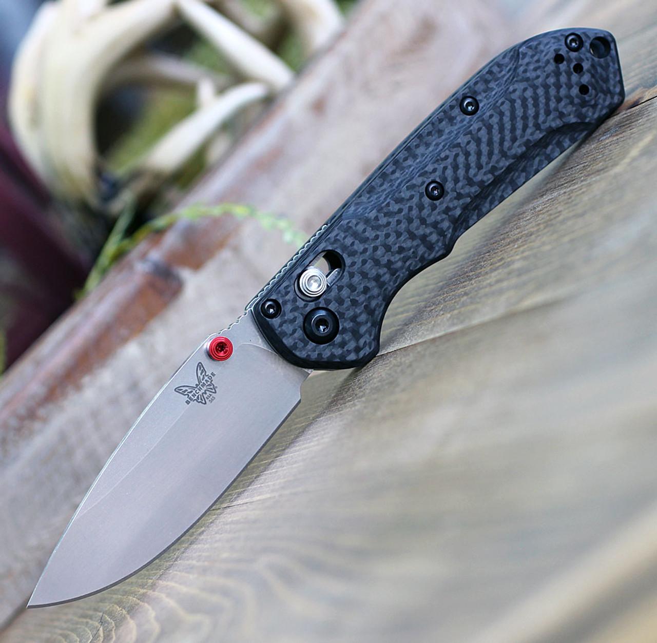 "Benchmade 565-1 Mini Freek, 3.0"" CPM-S90V Satin Plain Blade, Carbon Fiber Handle"