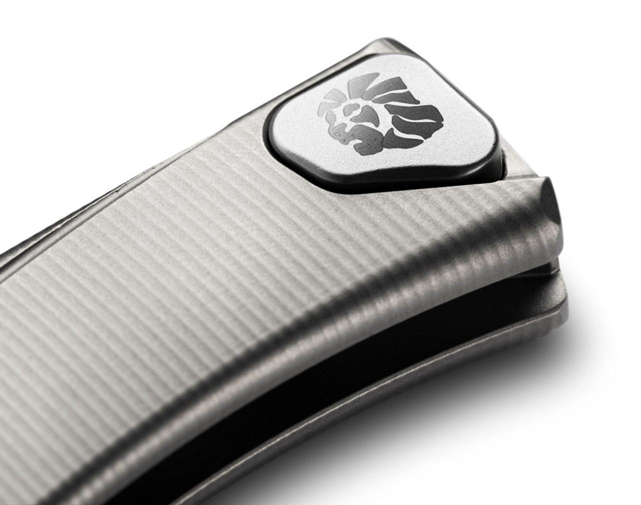 """LionSteel Thrill Slip Joint Titanium Gray TLGY, 31.5"""" M390 Satin Blade, Titanium Handle"""