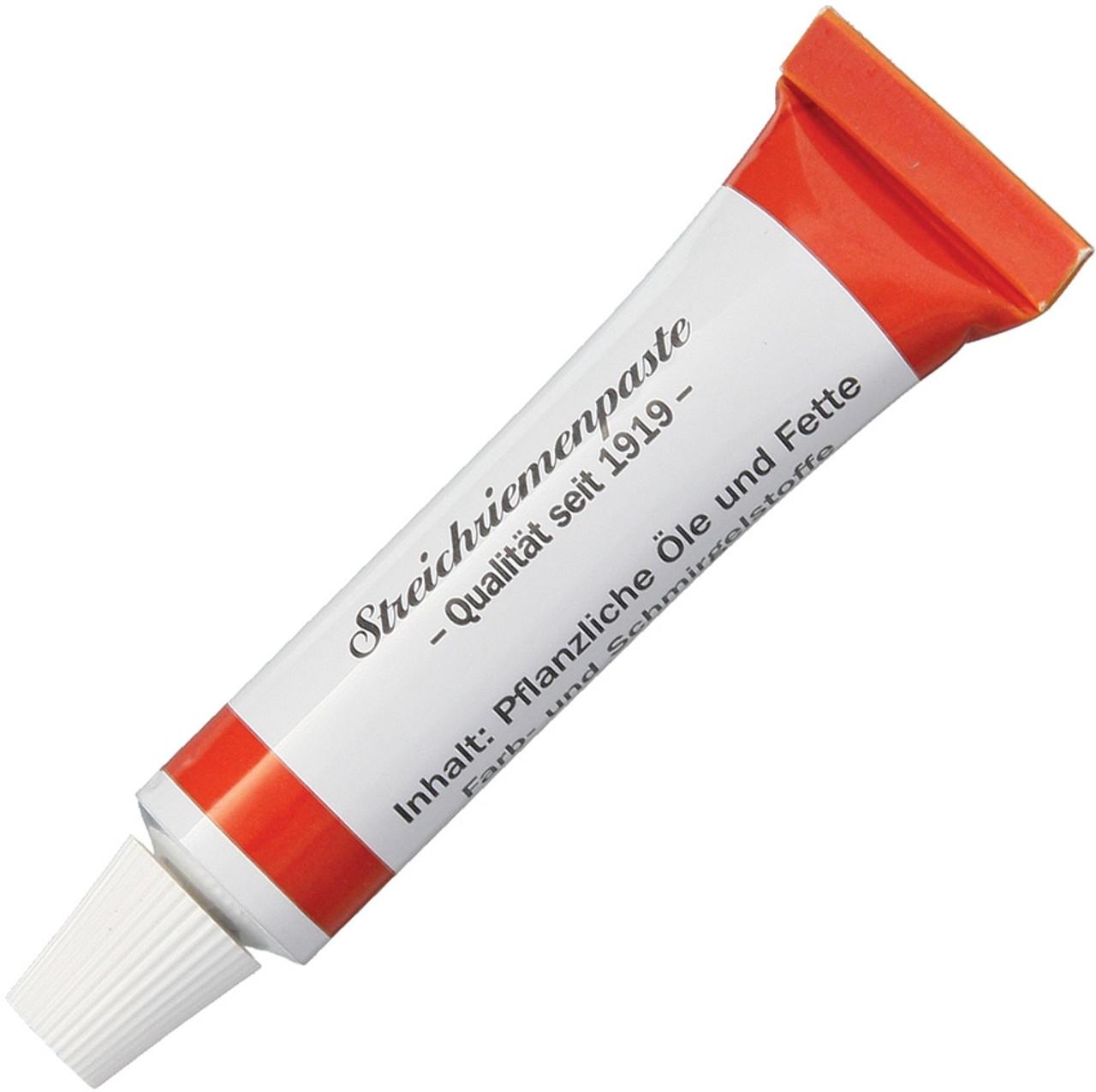 Herold Solingen Tubenpaste for Razor Strops, Red Medium Grid Effect