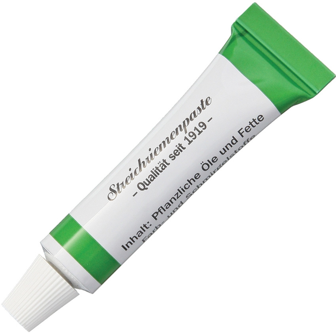 Herold Solingen Tubenpaste for Razor Strops, Green Paste Coarse Grid Effect