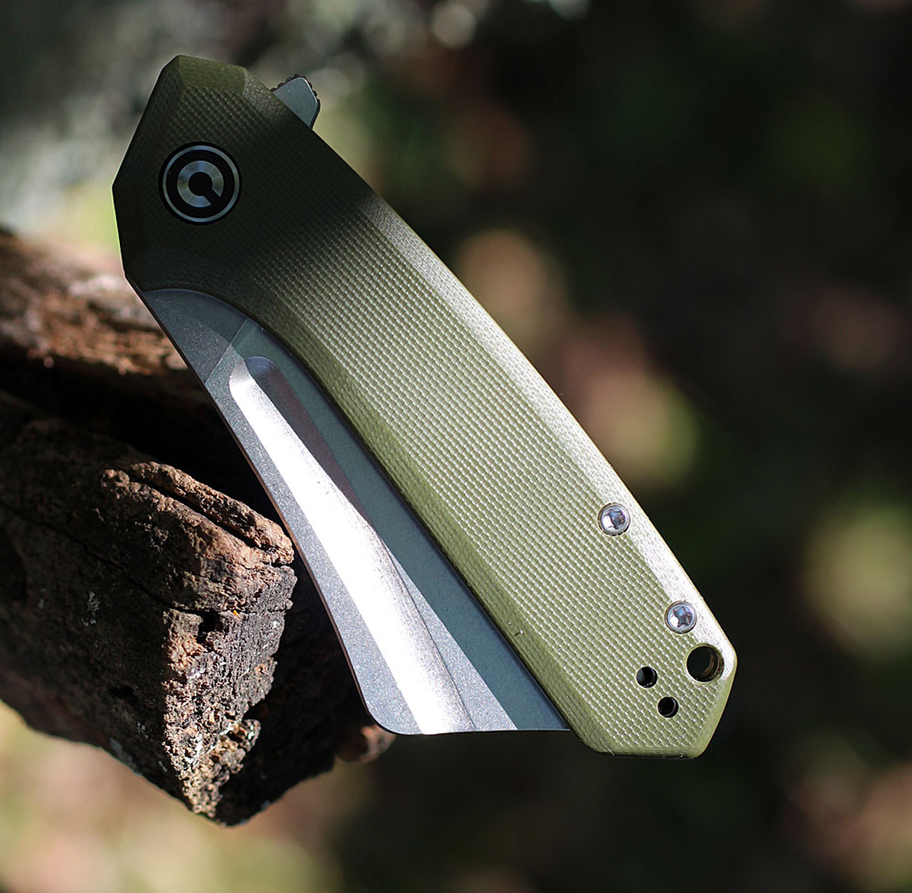 "Civivi Mini Bullmastiff C2004A,  2.97"" 9Cr18MoV Stonewashed Plain Blade, OD Green G10 Handles"