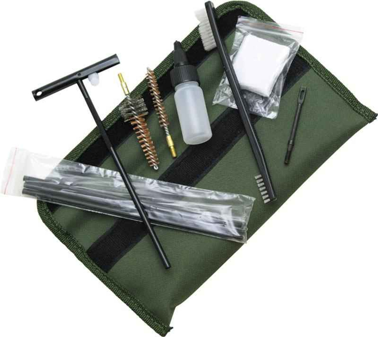 ABKT AB0035 Tac 5.56mm Gun Cleaning Kit, Olive green pouch