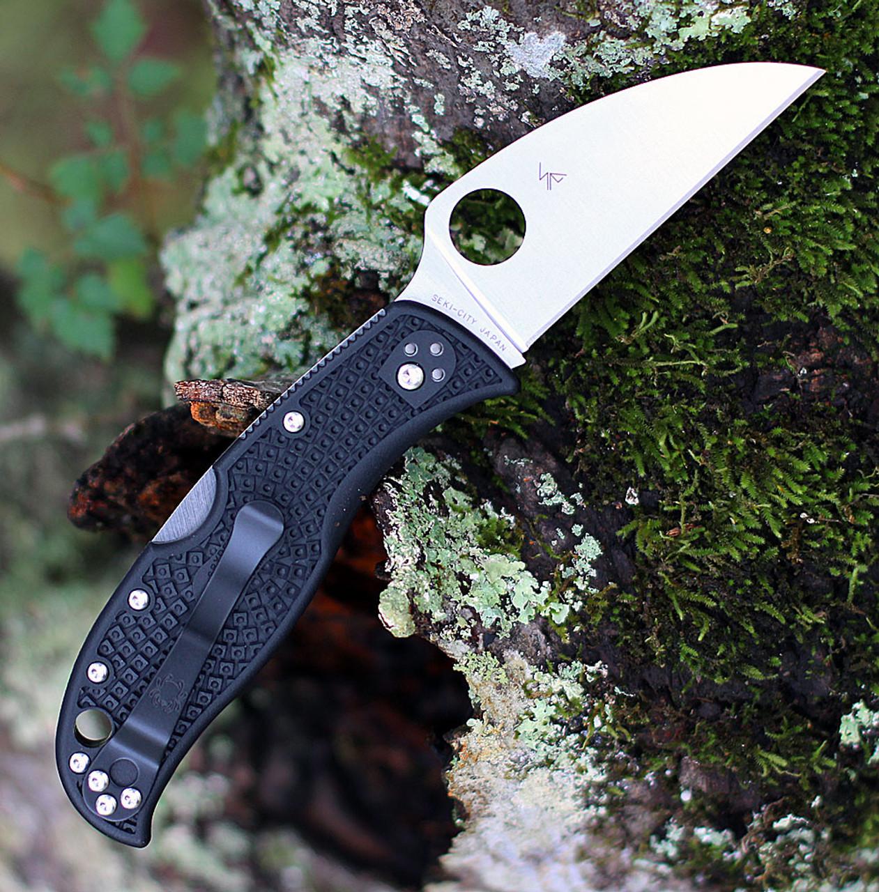 "Spyderco RockJumper C254PBK, 3.08"" VG-10 Plain Blade, Black FRN Handle"