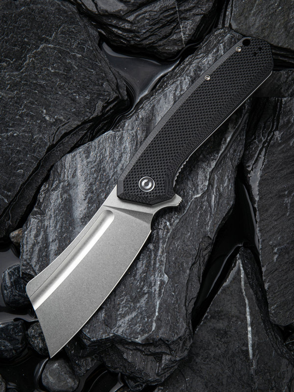 "Civivi Bullmastiff Linerlock Black C2006C, 3.83"" 9Cr18MoV Stonewashed Plain Blade, OD Green G10 Handle"