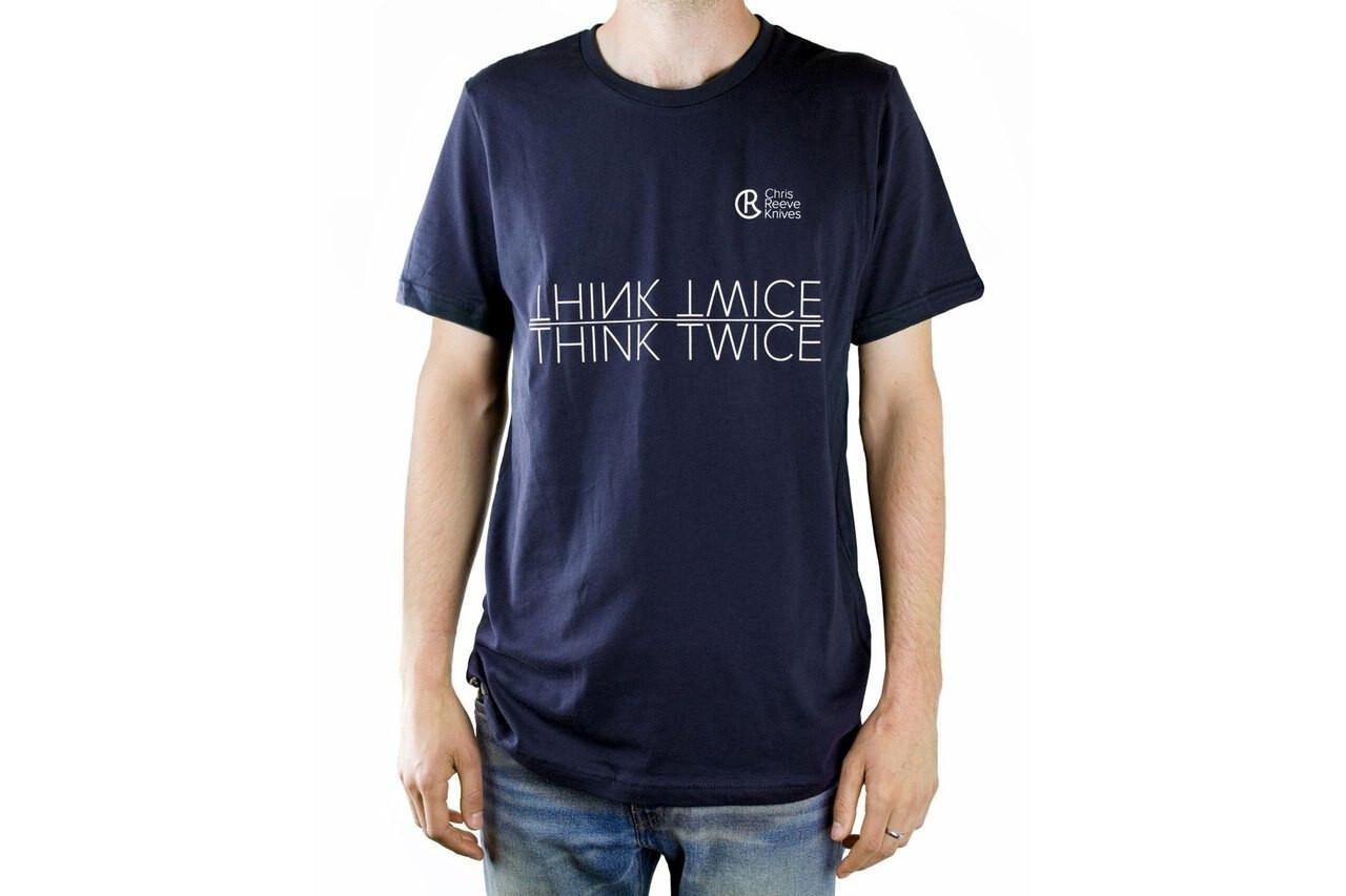 Chris Reeve Knives  CRK T-Shirt, Navy, Medium