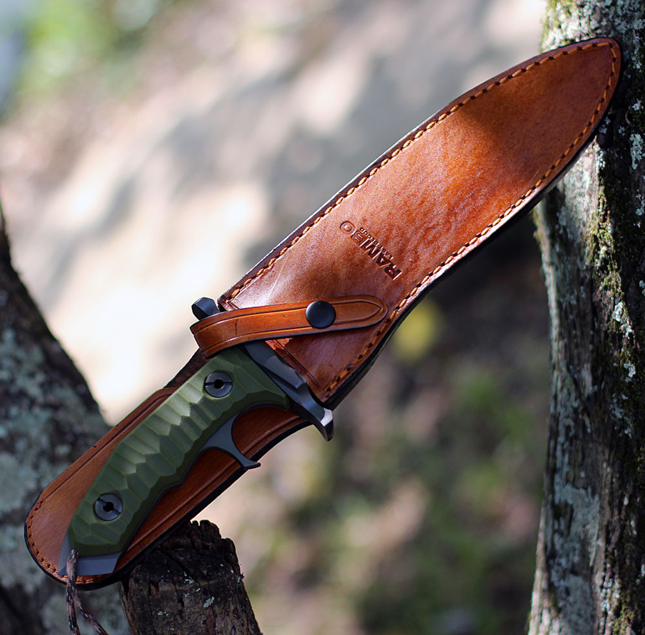 "Rambo Last Blood Heartstopper, Authentic Replica, 9"" Fixed Blade Knife"