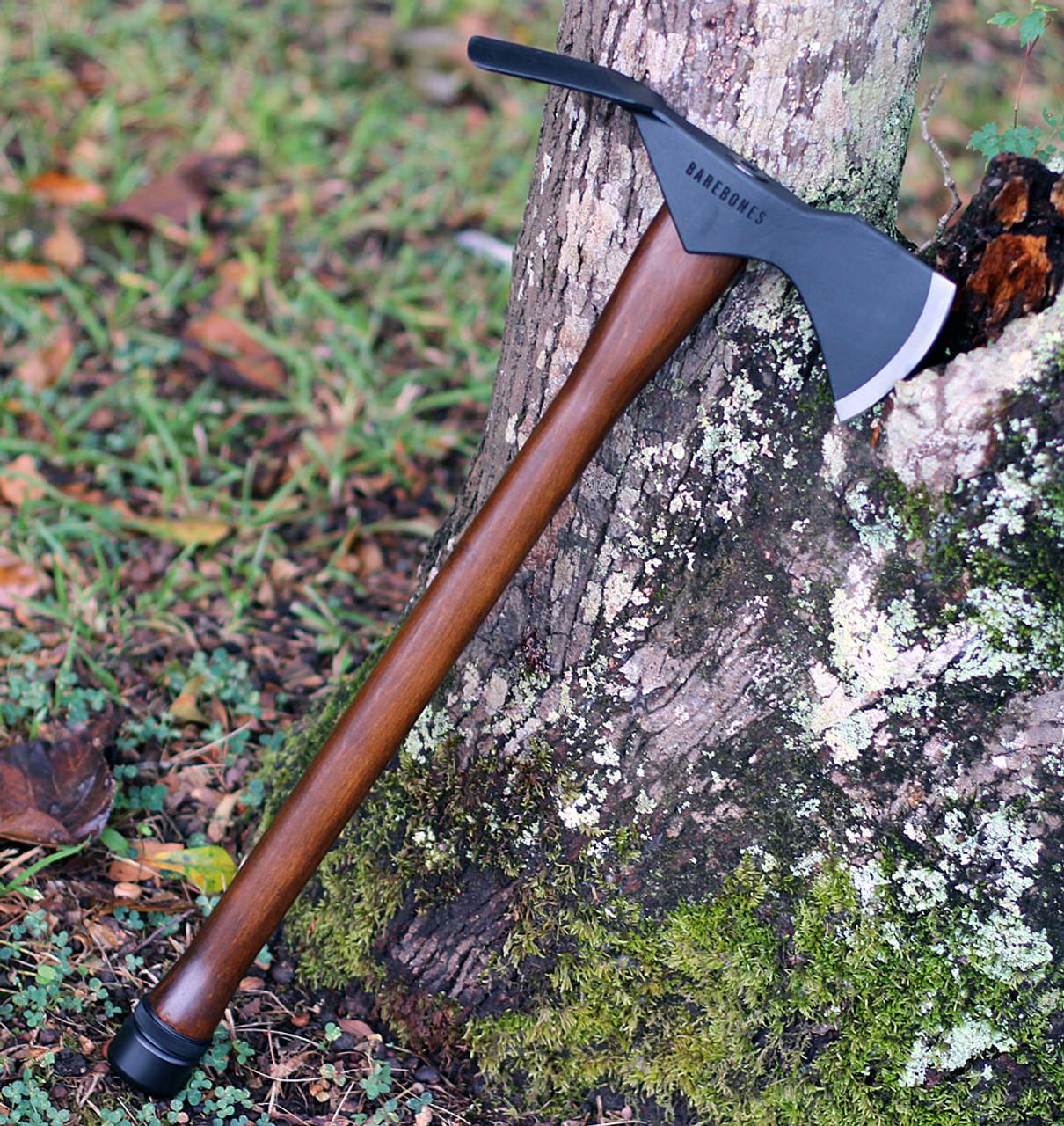 "BareBones Living Woodsman Pulaski Axe, 24"" Overall, Oiled Beech Wood Handle"