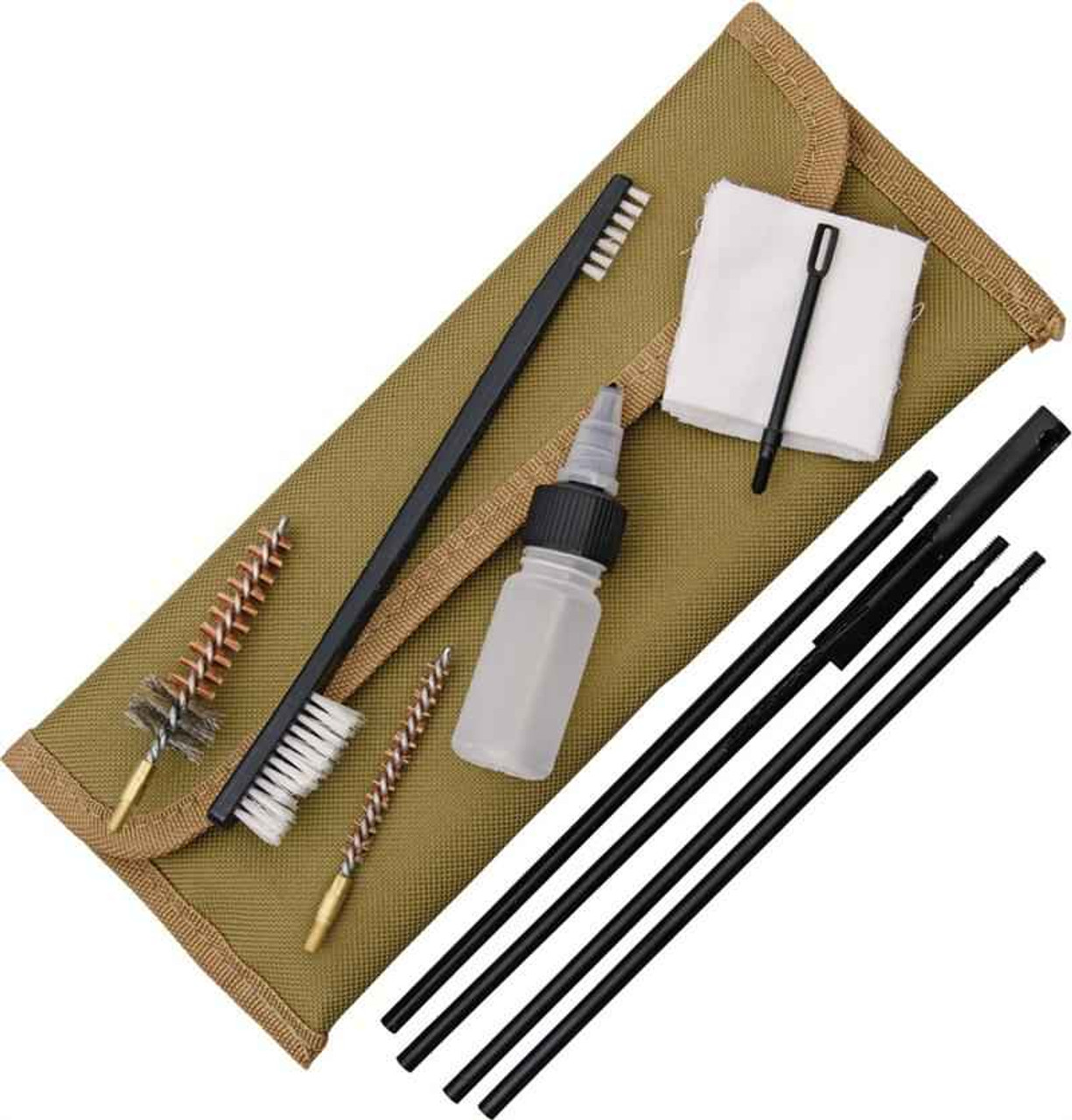 ABKT AB0035T Tac 5.56mm Gun Cleaning Kit, Coyote Tan Pouch