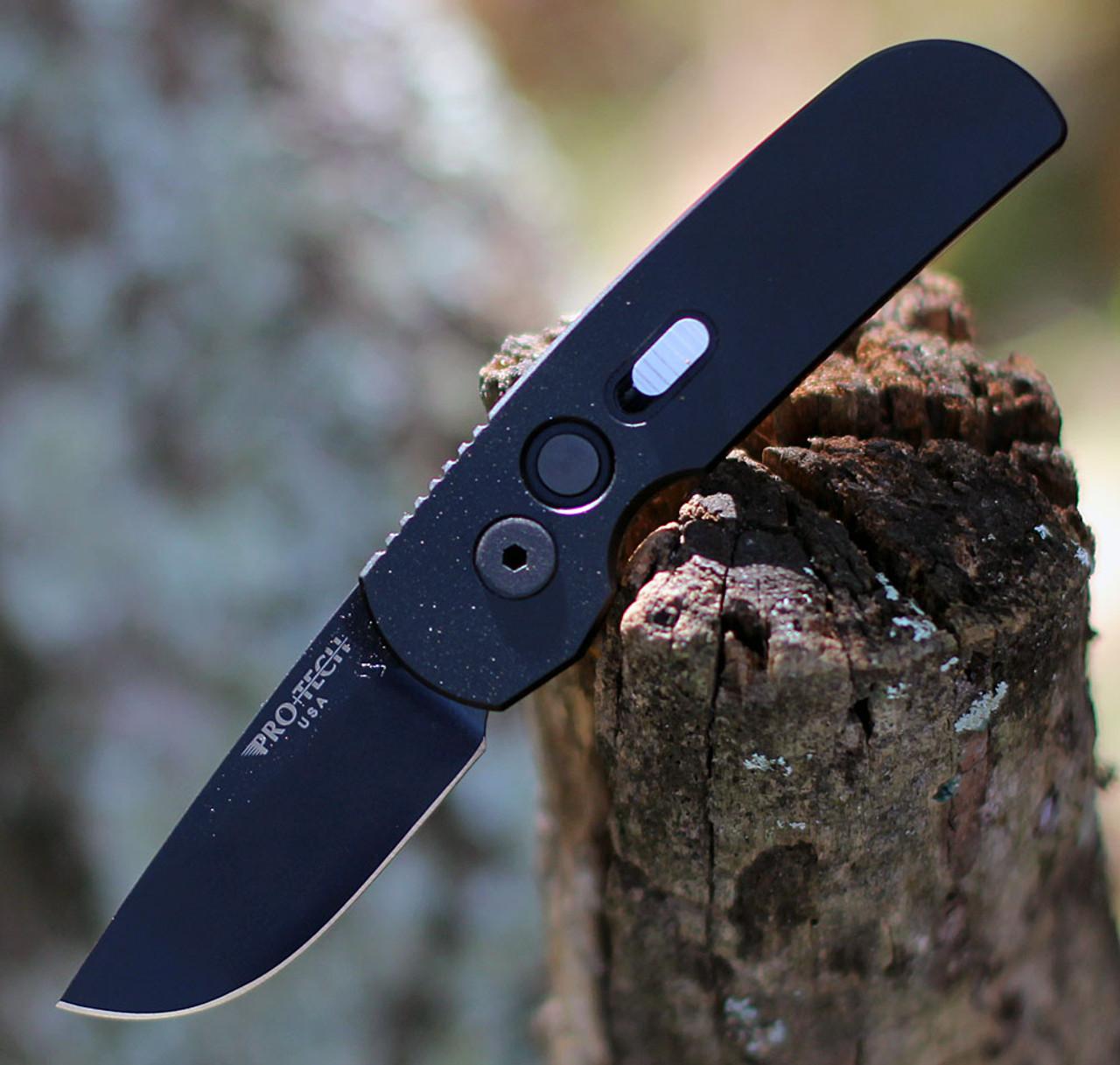 """ProTech 2205 Calmigo, 2.0"""" 154cm DLC Black Blade, Black Aluminum Handle"""