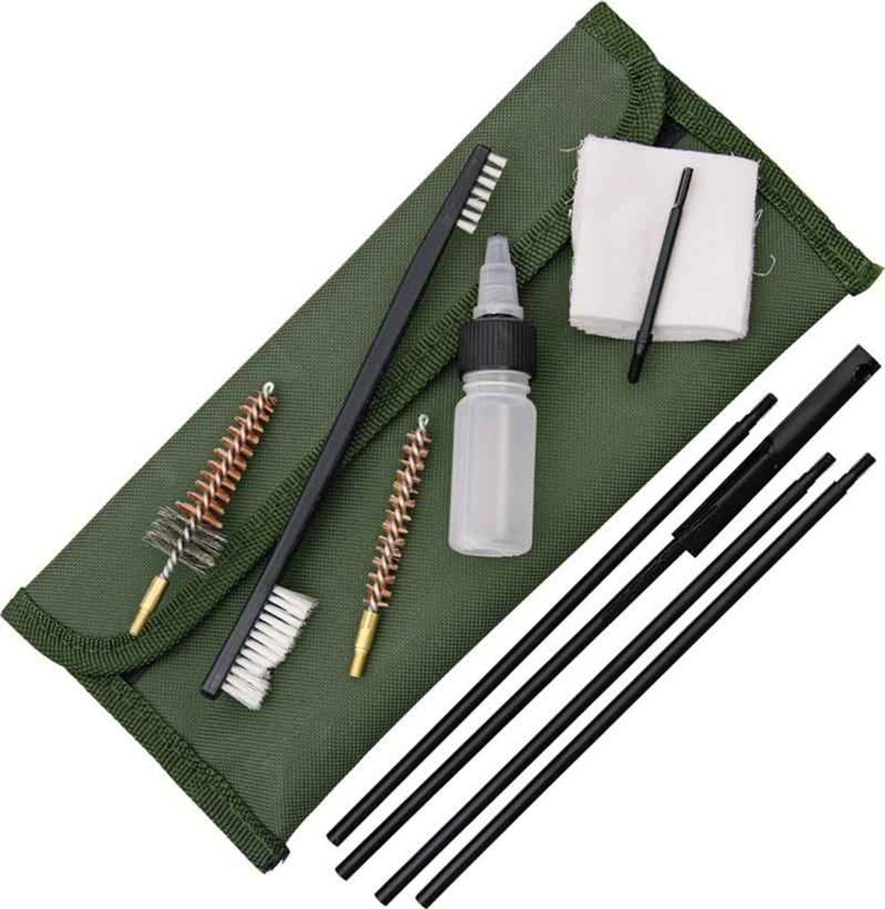 ABKT AB0036 Tac 7.62mm Gun Cleaning Kit, Olive Green Pouch.