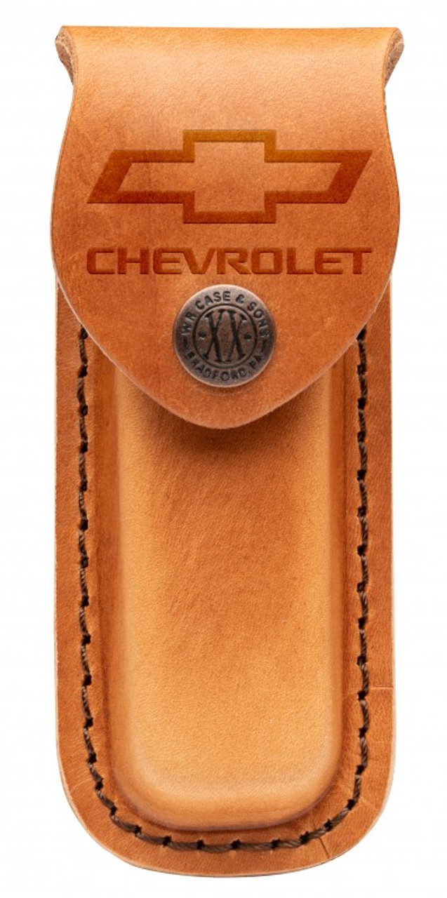 Case Medium Sheath 33703 Chevrolet Embellished Tan Leather