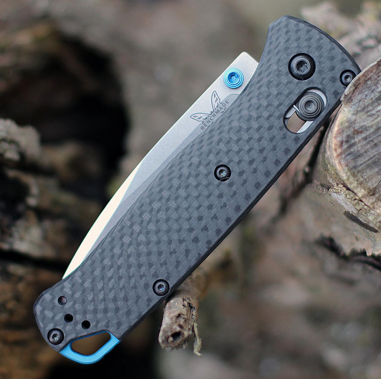 """Benchmade Bugout 535-3, 3.24"""" CPMS90V Plain Blade, Carbon Fiber Handle"""