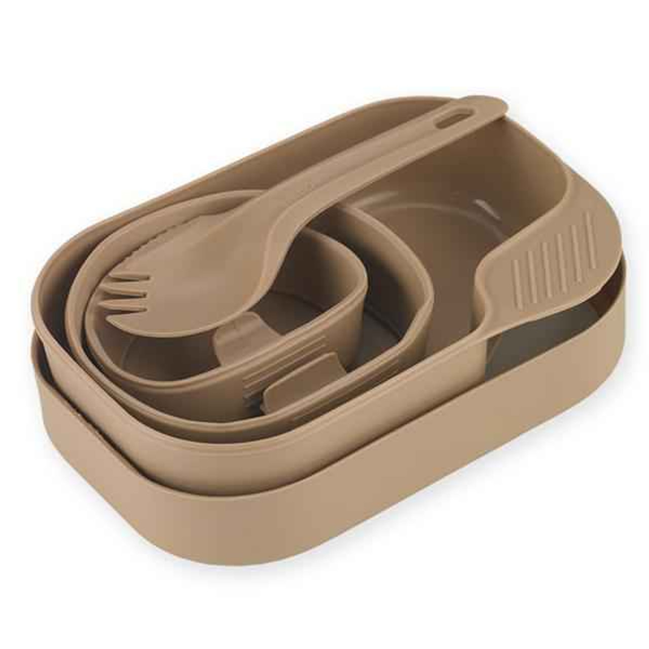 Wildo Camp-A-Box w/ a Spork, Tan