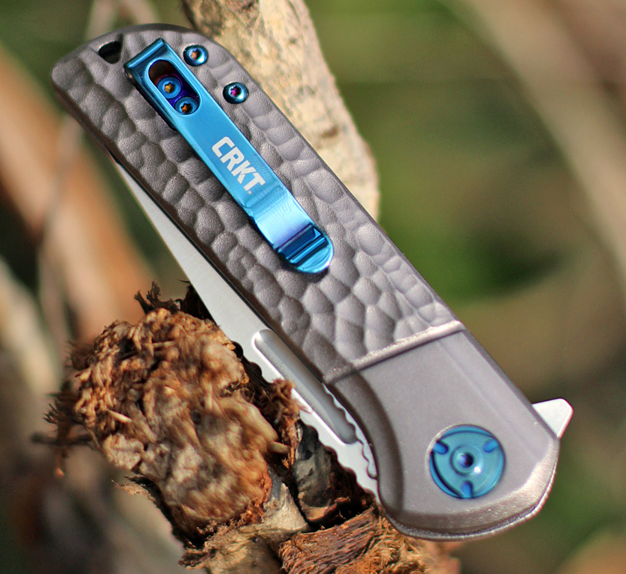"""CRKT Lannny  Linerlock Silver A/O 6525 , 3.18"""" 8Cr13Mov Satin Finish Stainless Blade, Silver Sculpted Aluminum Handles"""