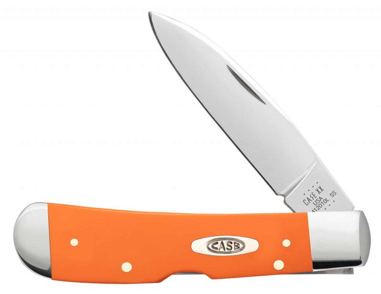 Case Tribal Lock 80513 Smooth Orange Synthetic Handle (TB412010L SS)