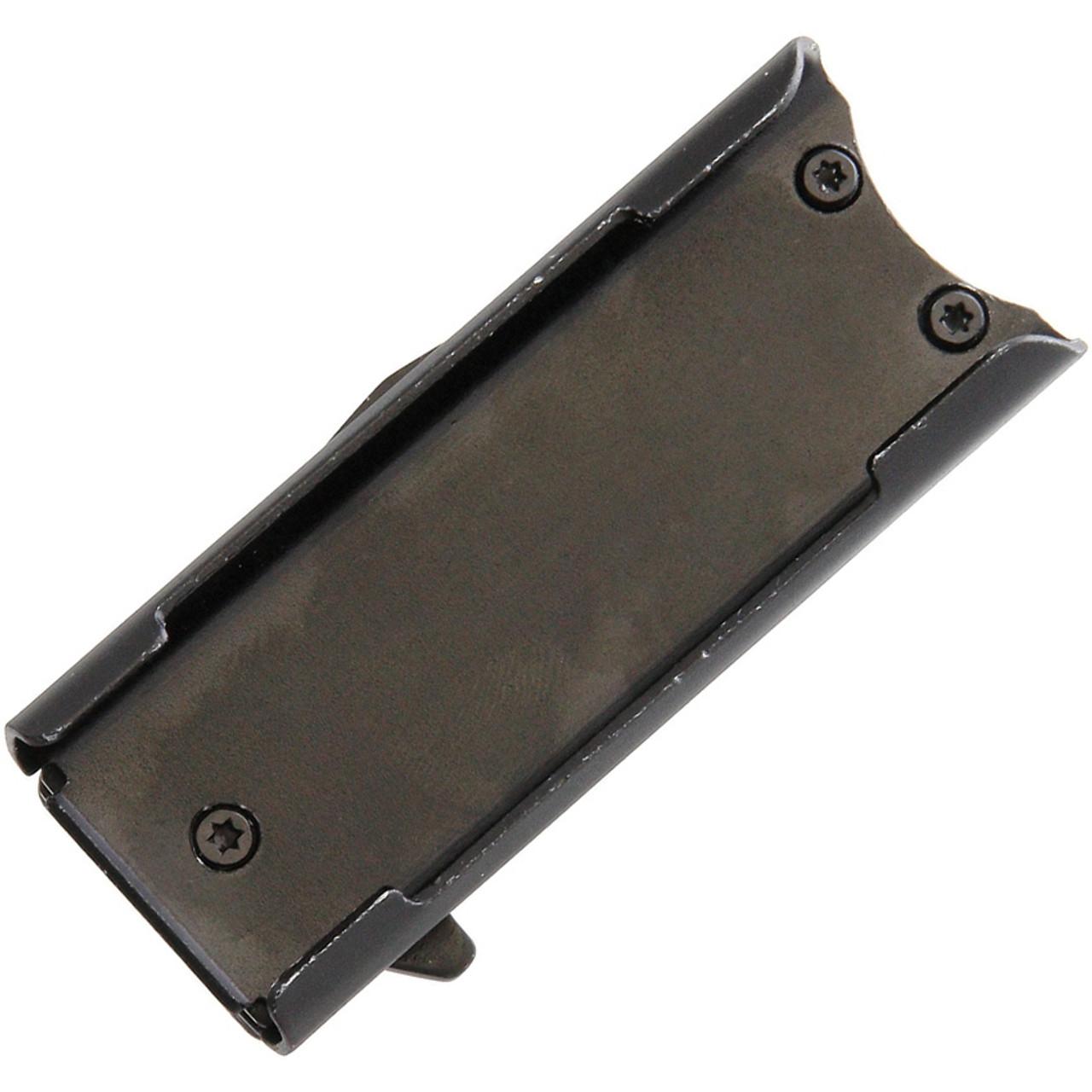 "Wild Boar Knife and Lighter Holder 1021, 1.75"" Stainless Blade, Black Aluminum Handle (Holds Standard Lighter)"