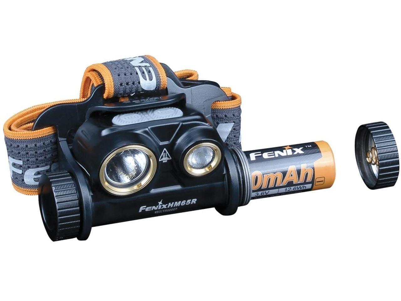 Fenix HM65R Black Rechargeable Trail Running Headlamp, 1500 Lumens