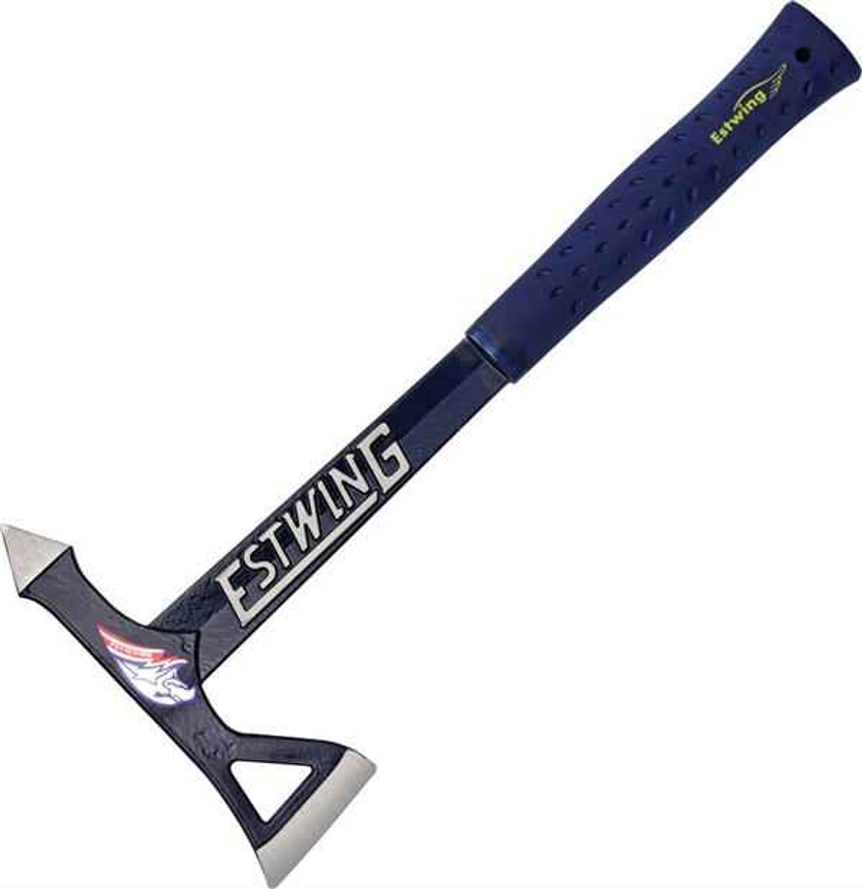 "Estwing Black Eagle Blue Tomahawk Axe, 15 1/2"" Overall Length"
