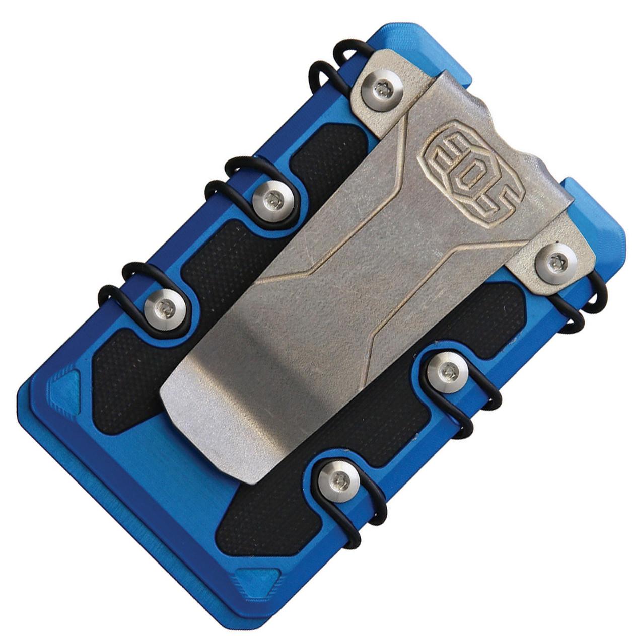 EOS 3.0 Lite Wallet EOS071, Blue Aluminum Construction, Silver Anodized Hardware