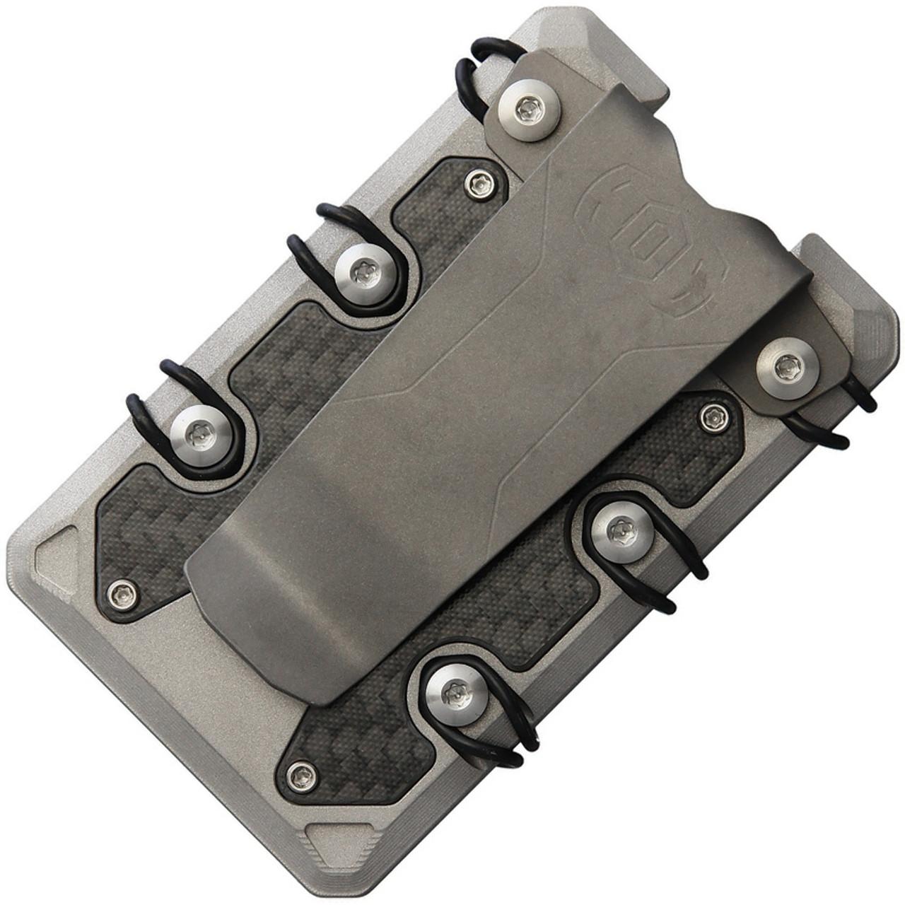 EOS 3.0 Bead Blast Wallet EOS052, Stonewashed Titanium Construction, Silver Anodized Hardware