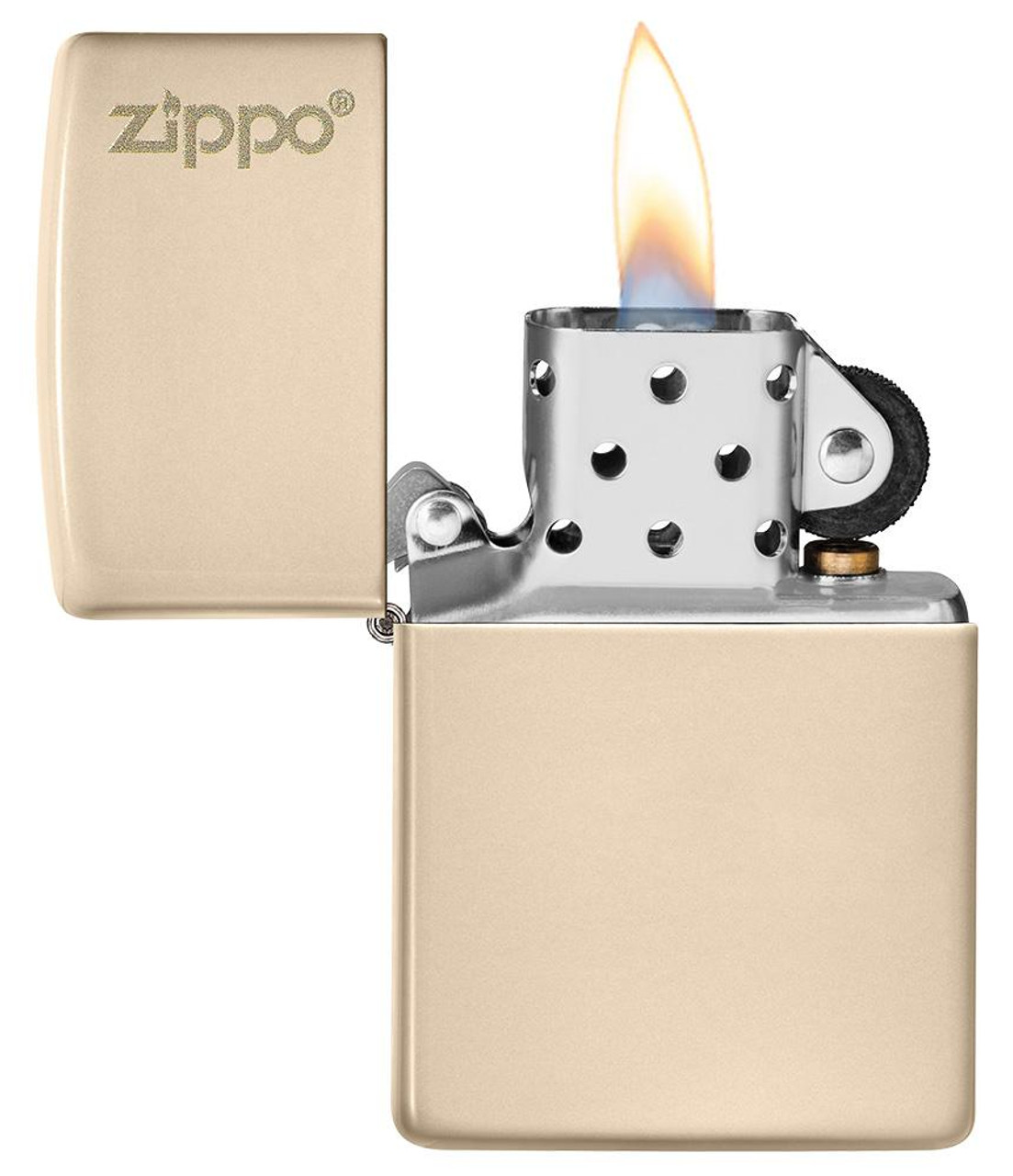 Zippo 49453ZL-000003 Classic Flat Sand Zippo Logo Lighter