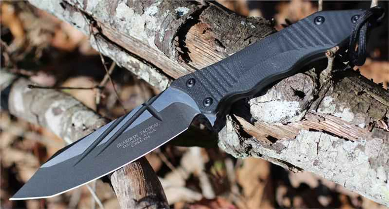 Guardian Tactical Patron Fixed Blade, Two Tone CMP-154, Black G-10 Handle