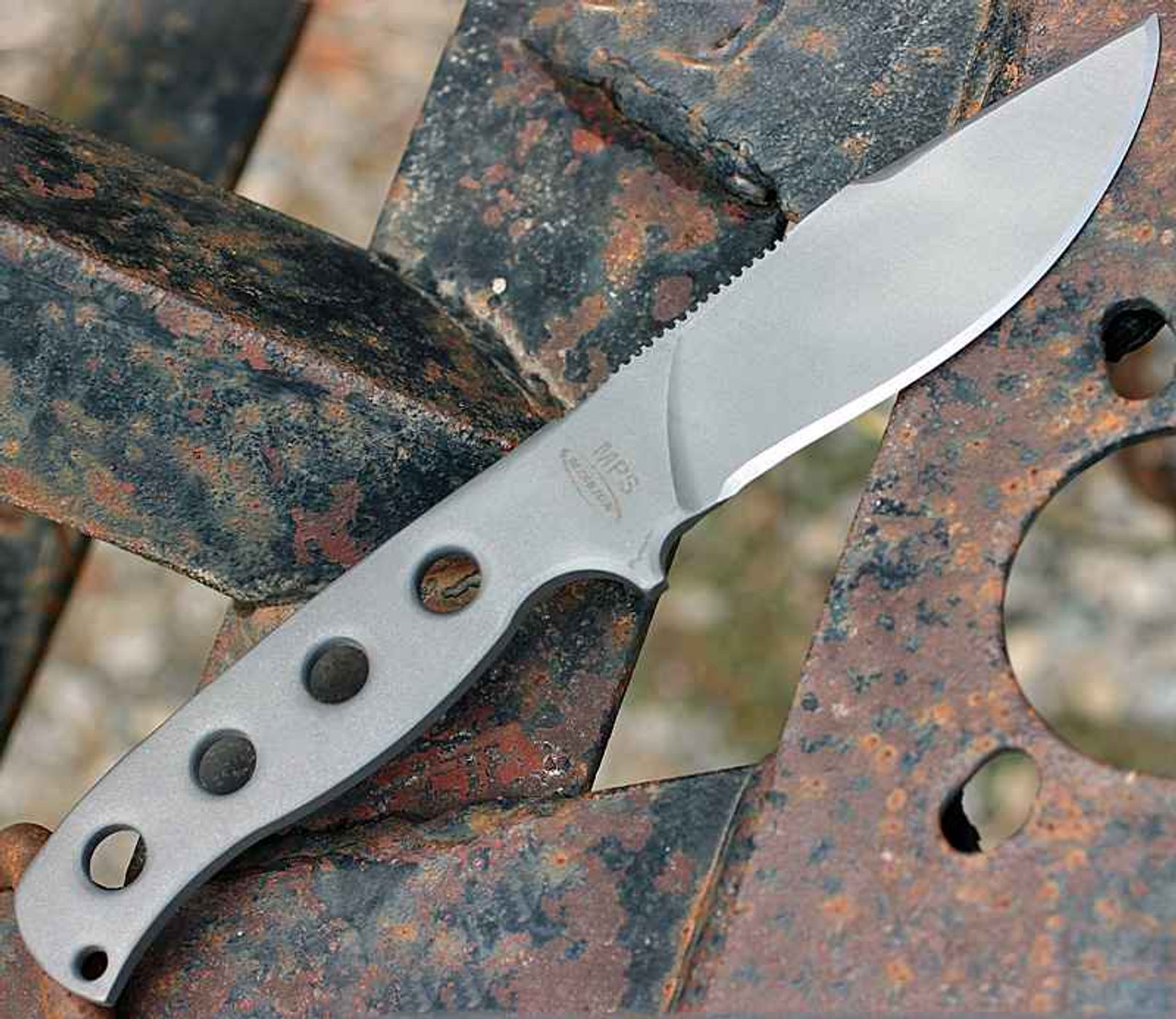 Mission MPS-Ti, Titanium Blade, Skeletonized handle, Plain Edge