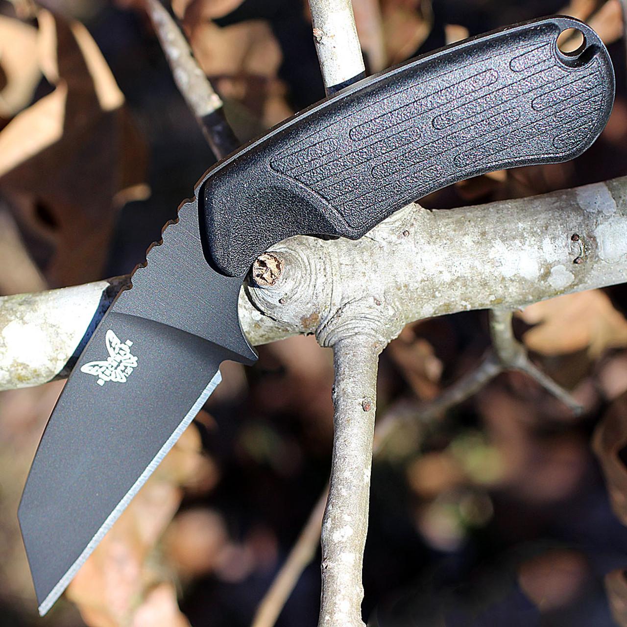 "Benchmade 125BK AZERIA, 2.9"" N680 Black Plain Blade, Black Grivory Handle"