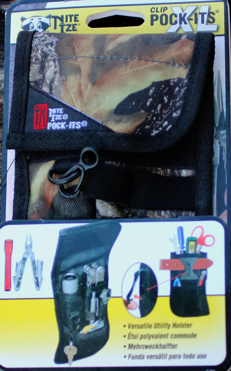 Nite Ize Clip Pock-Its XL Utility Holster Mossy Oak