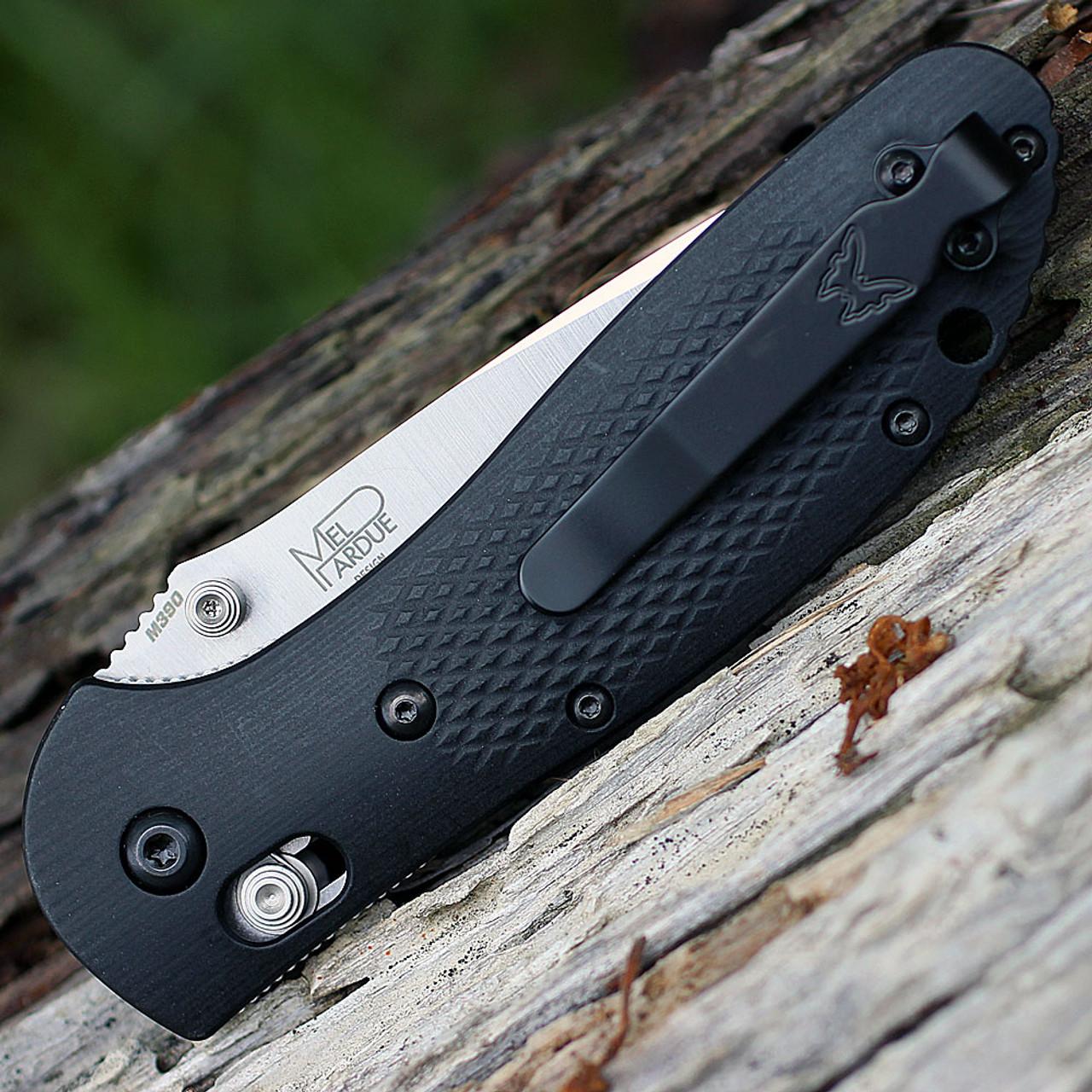 "Benchmade BM551-1702 Griptilian, 3.45"" M390 SS Plain Blade, Micarta Handle, Knifeworks Exclusive"