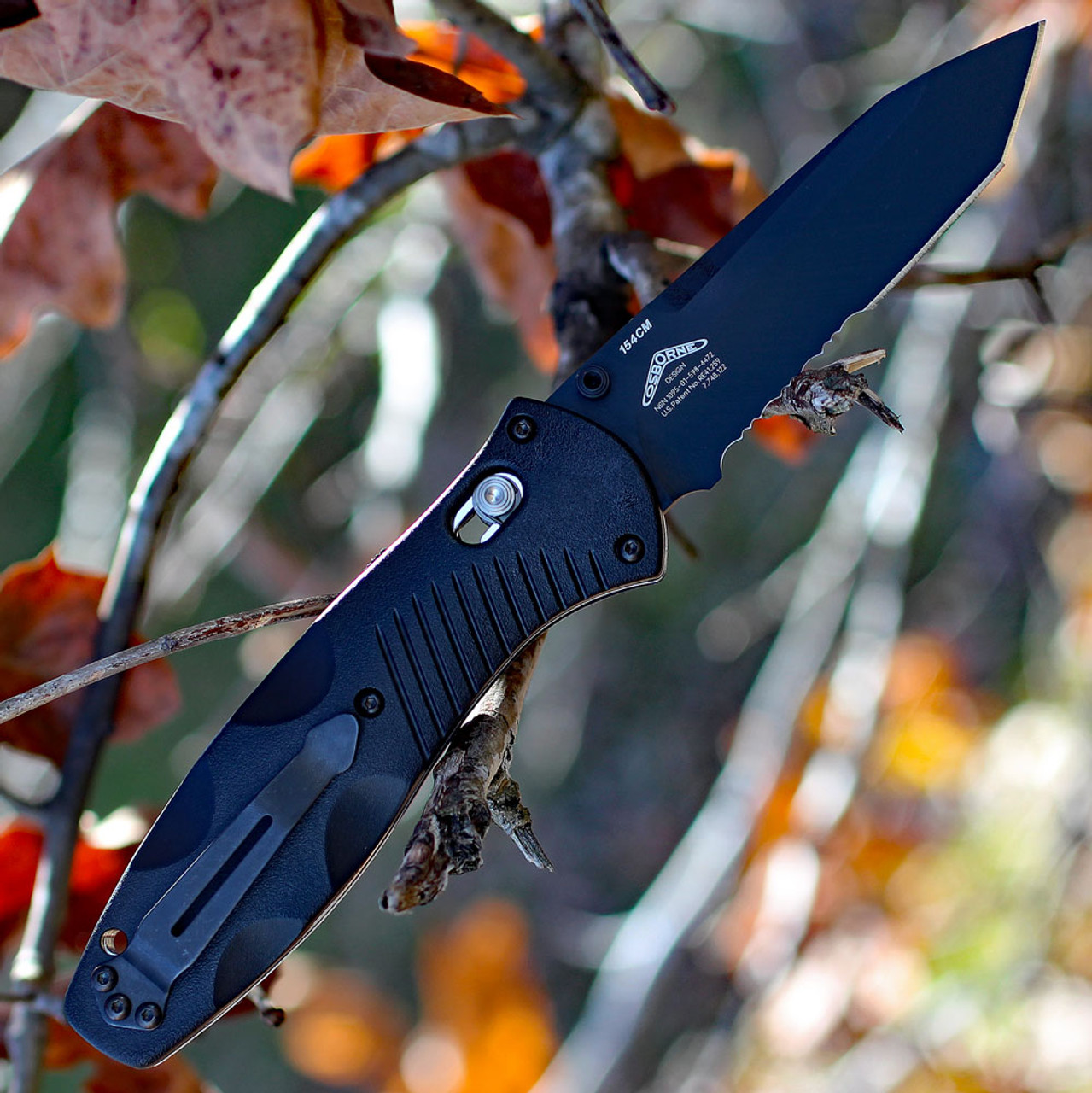 Benchmade Barrage 583SBK, 3.6 in. 154CM Stainless Blade, Assisted Opening, Black Combo Edge