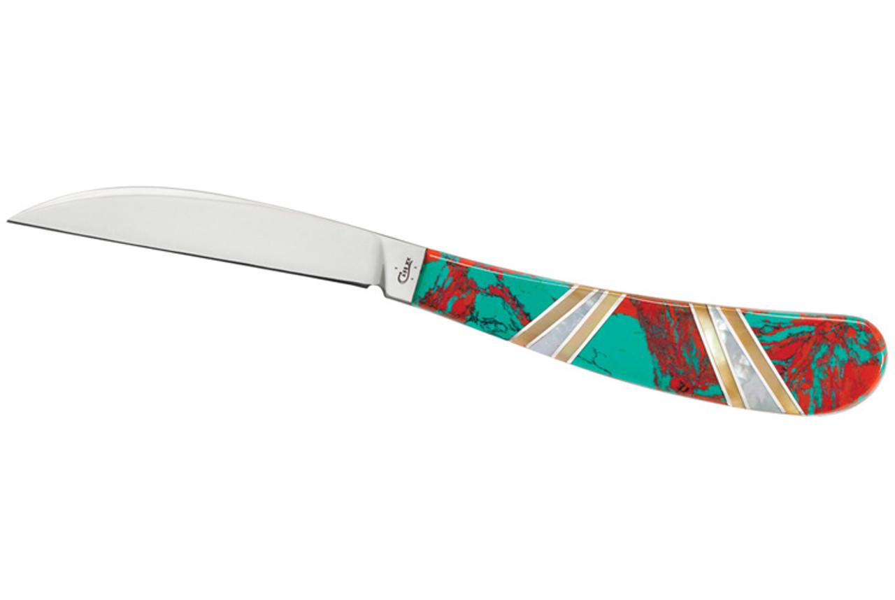 Case 11145 Desk Knife, Exotic Crimson Cuprite Stone Handle (EX17-3 154-CM)