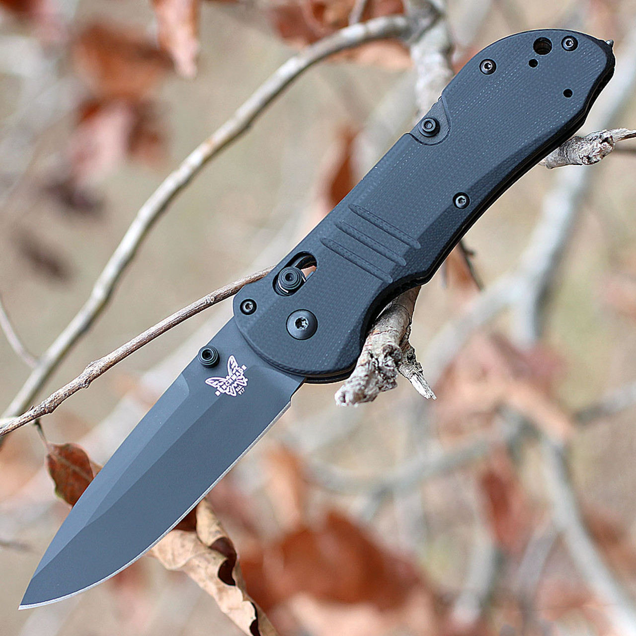 Benchmade 917BK Tactical Triage, 3.48 in CPM-S30V Black Plain Blade, G-10 Handle
