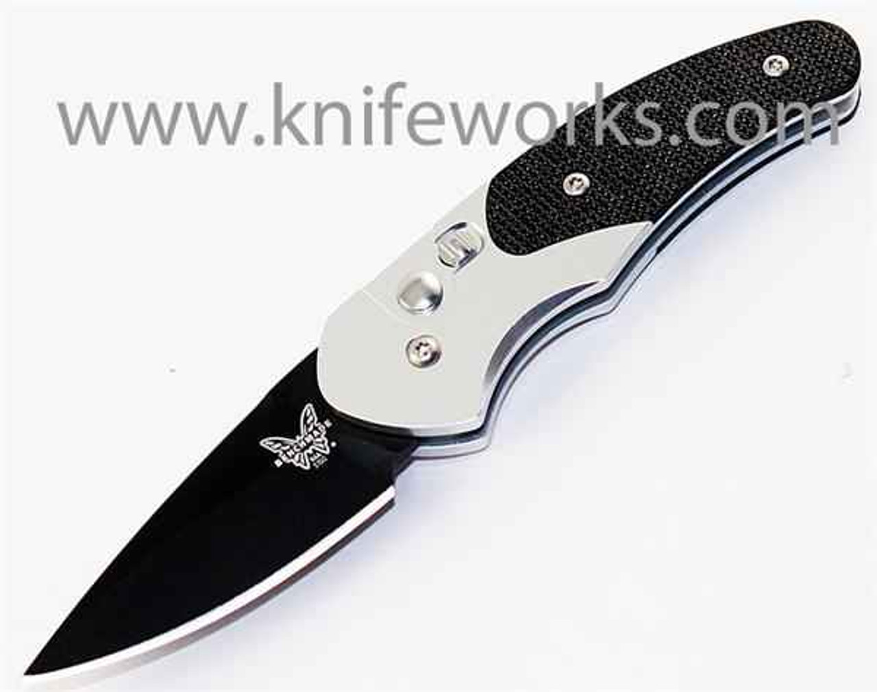 Benchmade Impel Auto 3150BK, 1.98 in. S30V Stainless Blade, Aluminum and G10 Handle, Black Plain Edge