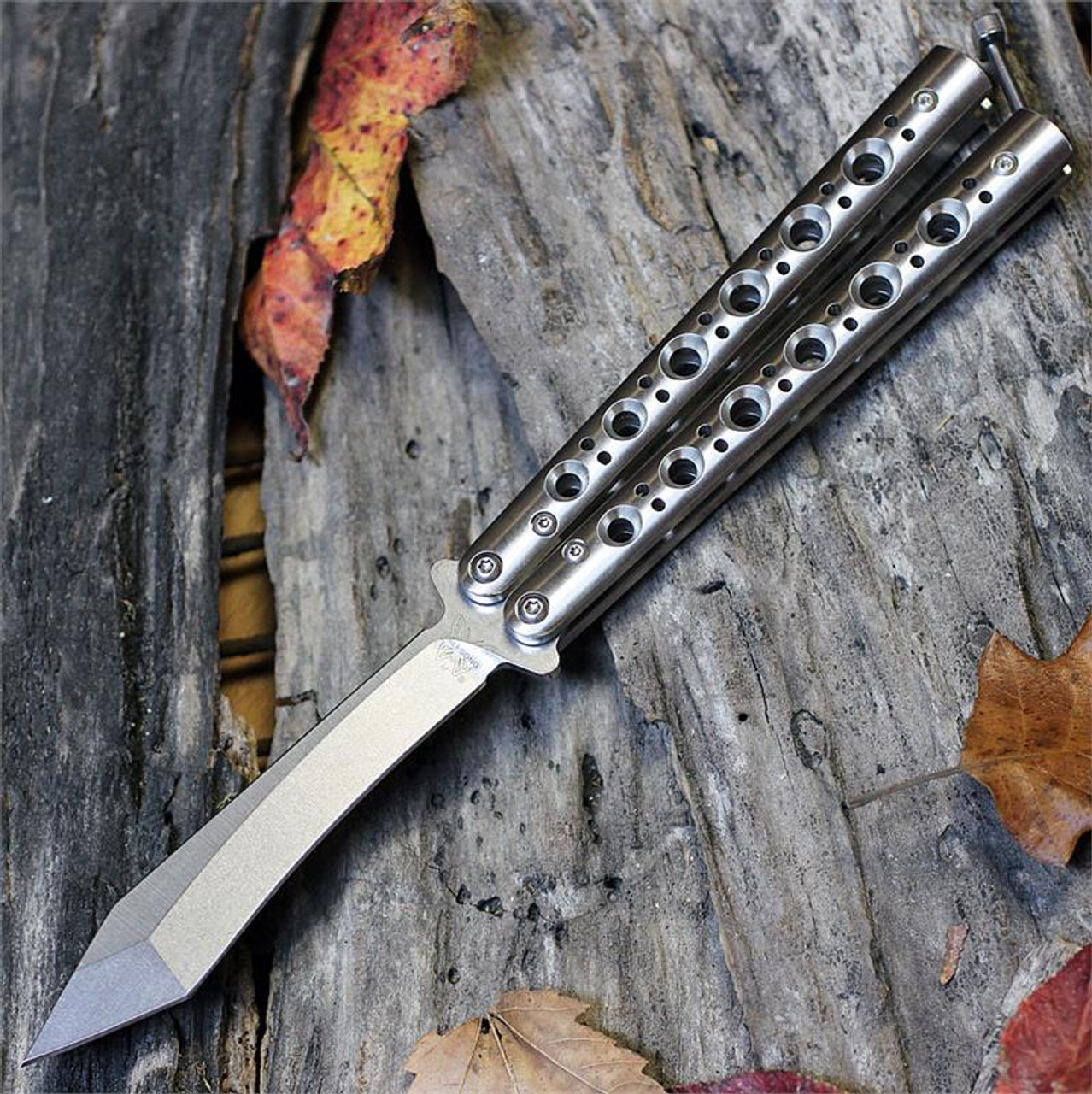 Benchmade Bali Song 67 4 25 In D2 Blade Steel Stainless Steel Handle Butterfly Knife