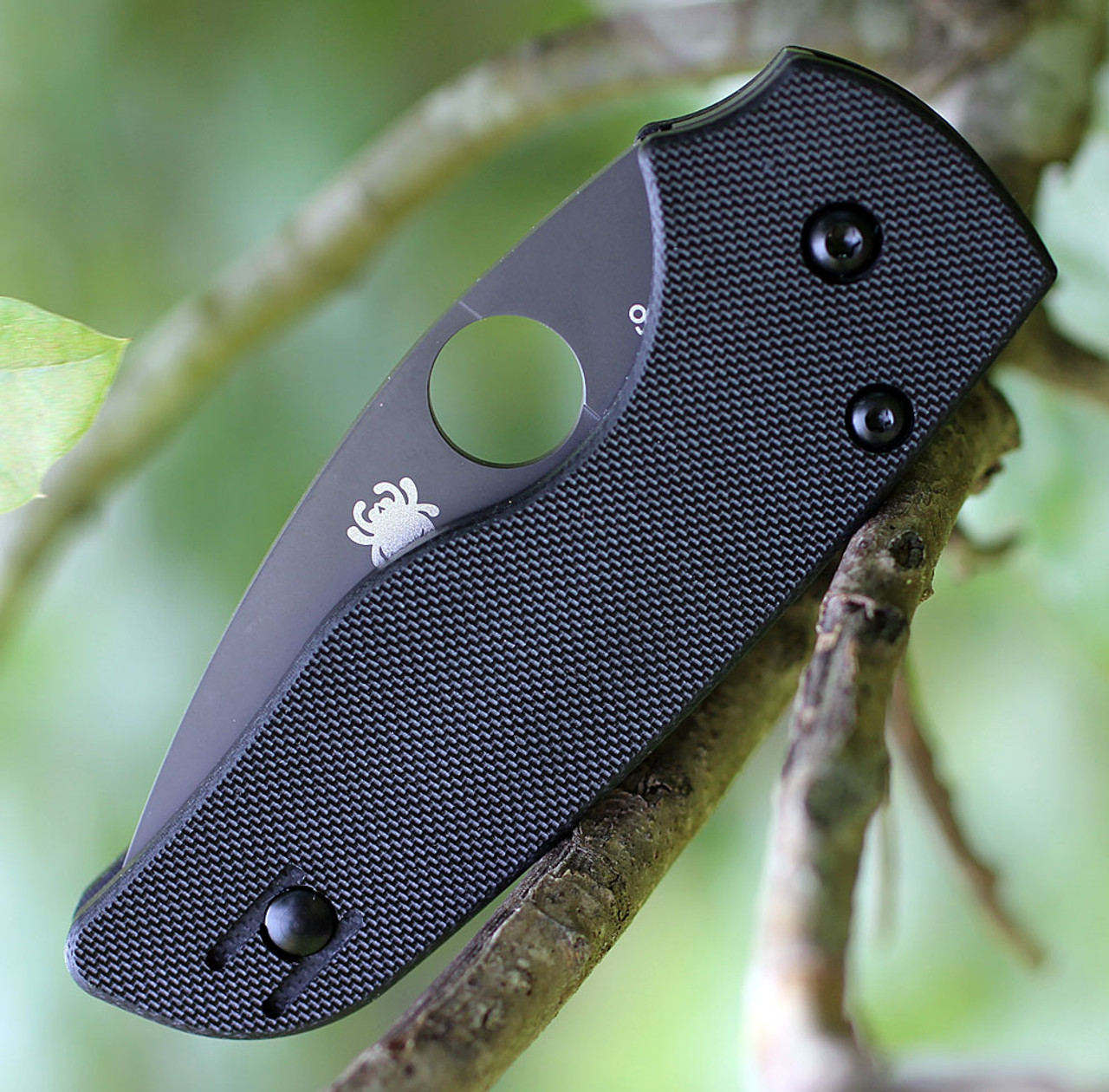 "Spyderco C230GSBBK Lil' Native, 2.5"" CPM S30V Serrated Black Blade, Black G-10 Handle"