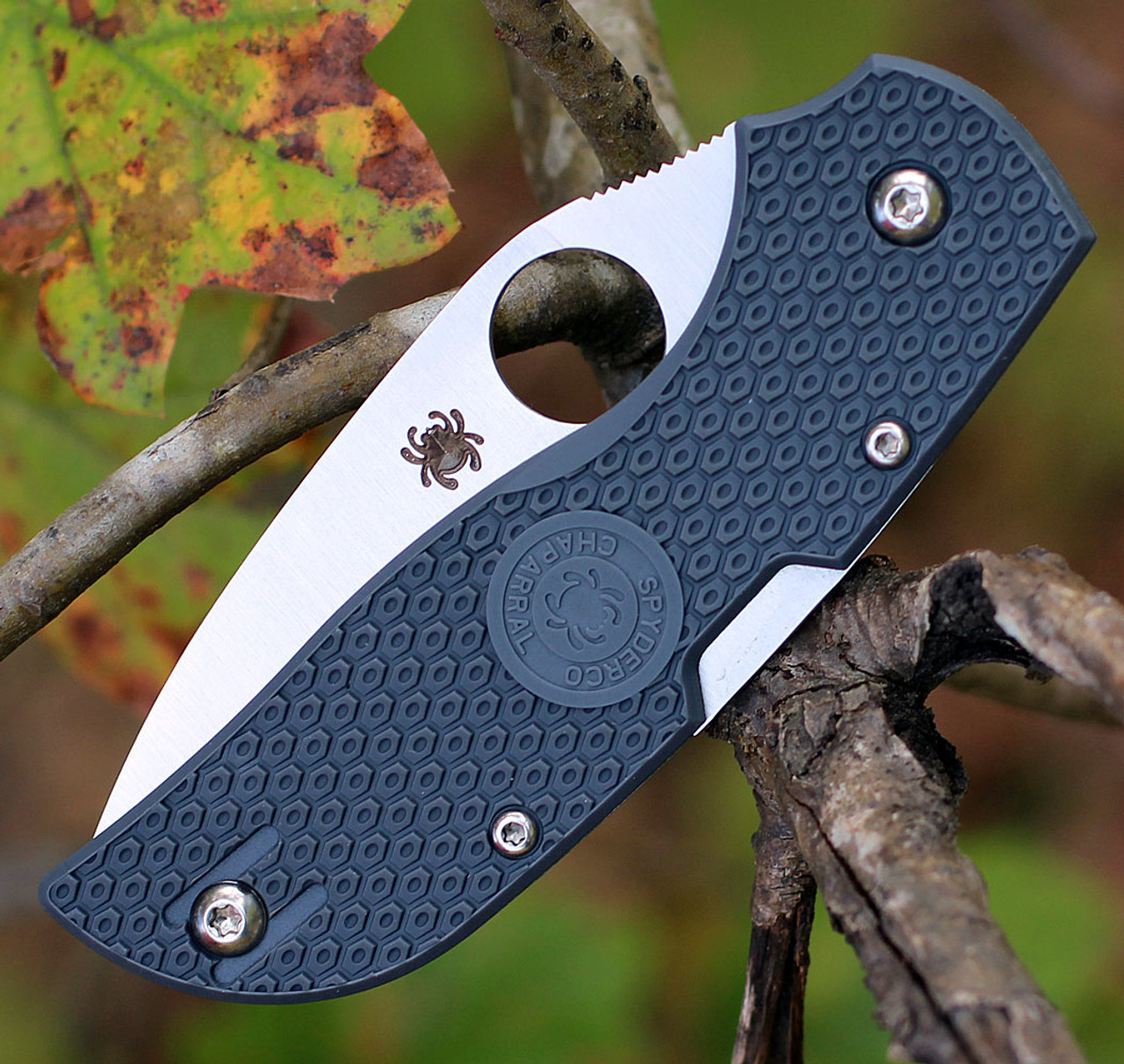 Spyderco Chaparral Lightweight C152PGY, 2.8 in CTS XHP Plain Blade, Gray FRN Handle