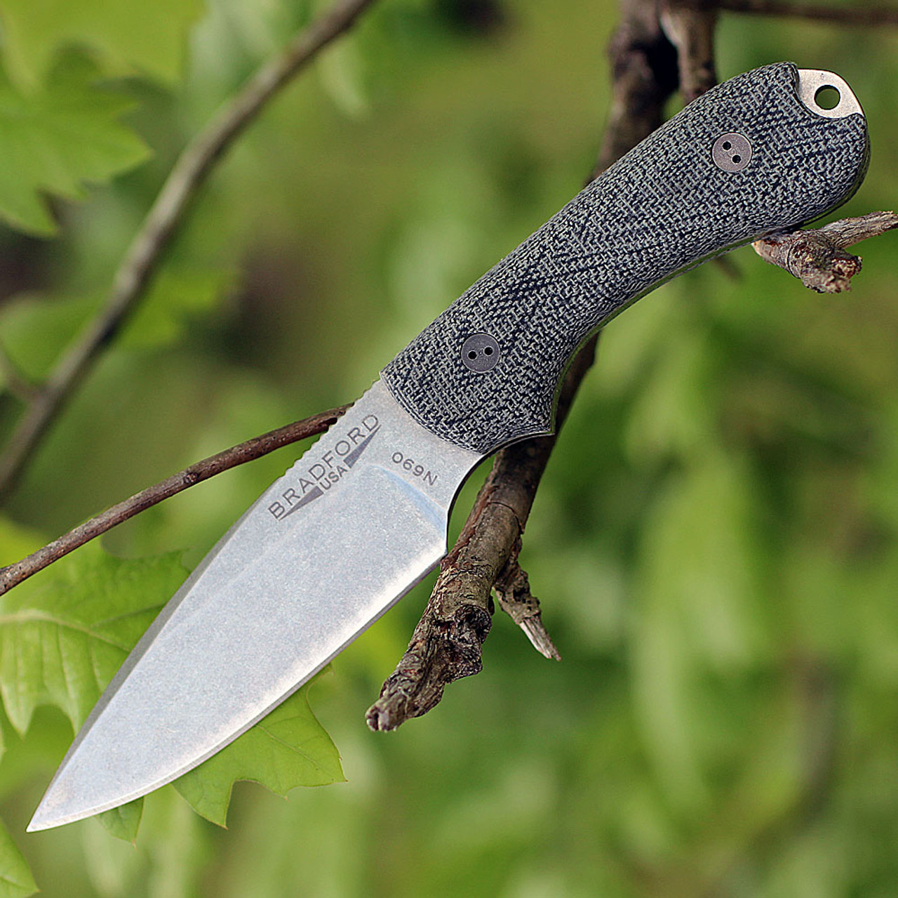 "Bradford Guardian3 3D, 3.5"" N690 Plain Blade, Black Micarta Handle"