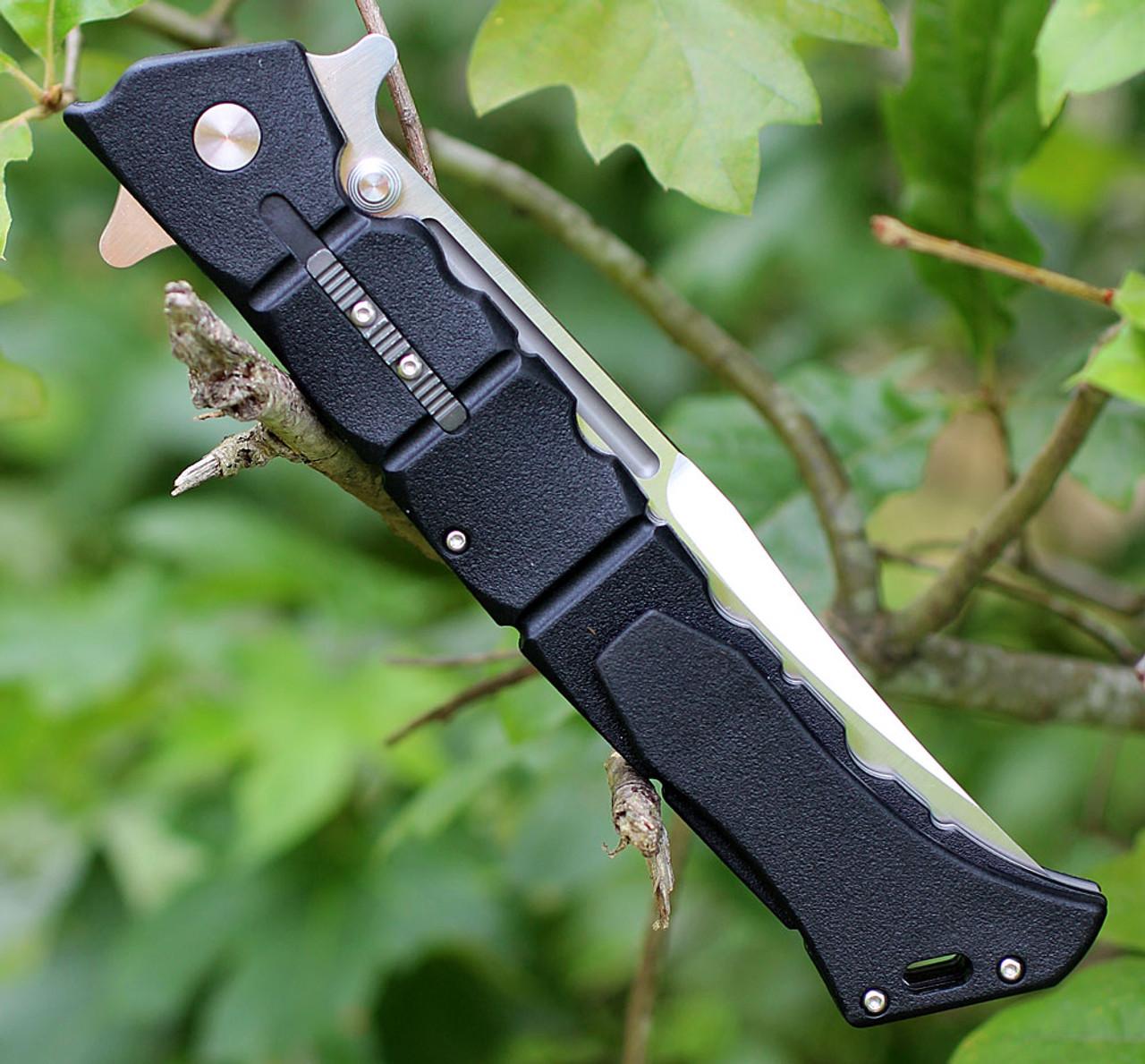 "Cold Steel 20NQX Large Luzon, 6"" 8Cr13MoV Plain Blade, Black GFN Handle"