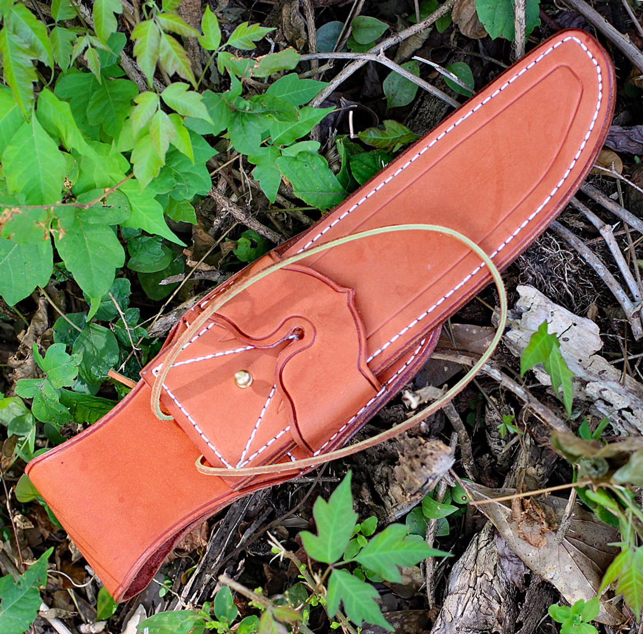 "Bark River 09215PMAI 1909 Michigan Bowie, 10"" A-2 Plain Drop Point Blade, Antique Ivory Micarta Handle"