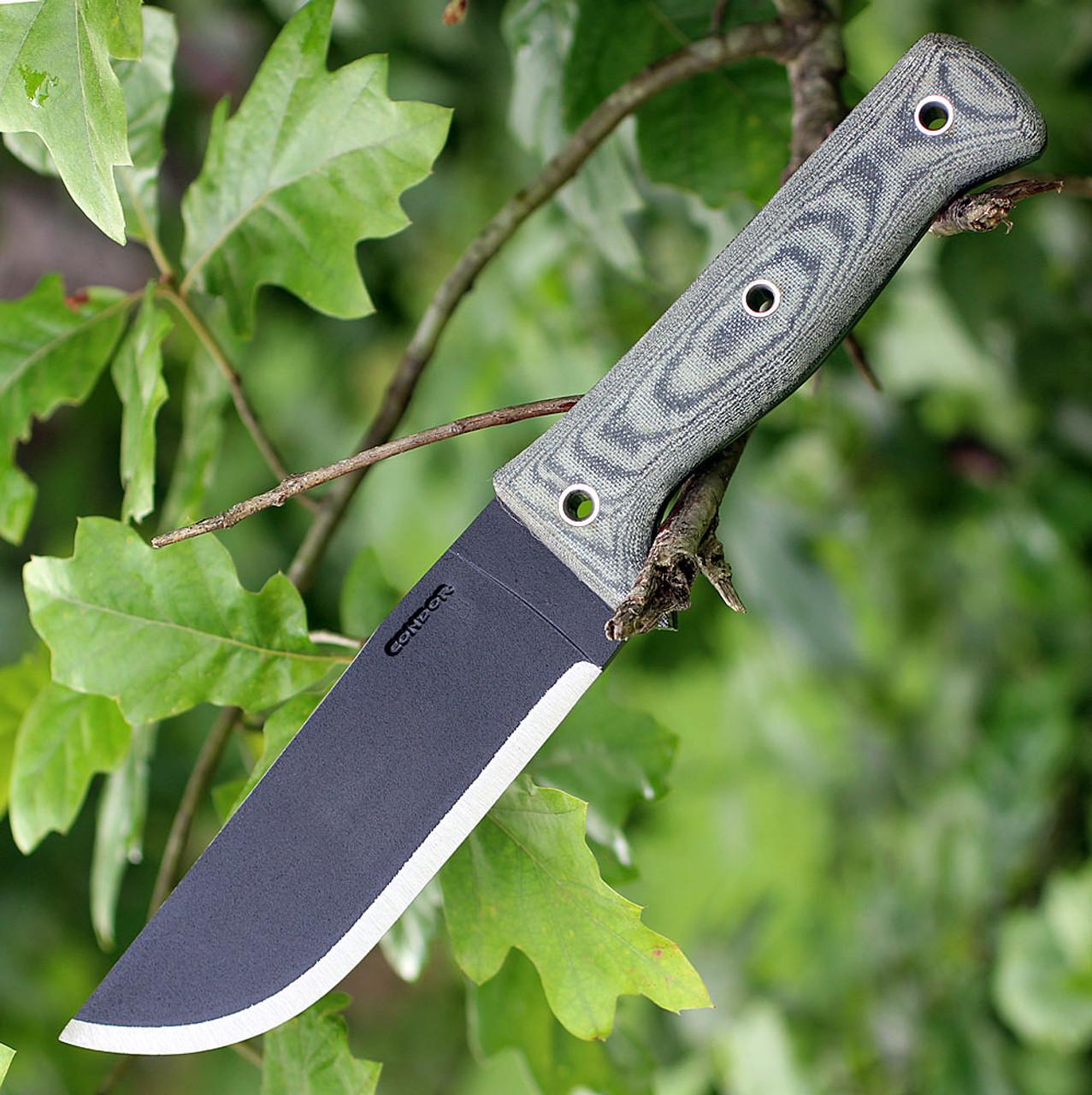"Condor 25755HC Crotalus, 5.5"" 1075 Plain Black Blade, Gray Micarta Handle"