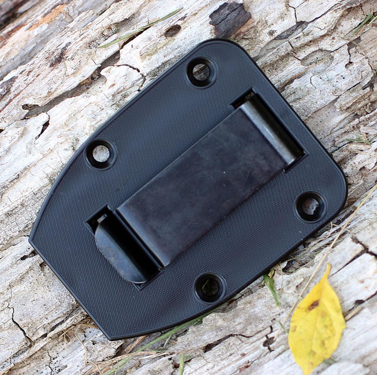 ESEE 4HM, Black Plain Edge, Modified Canvas Handles, Kydex Sheath