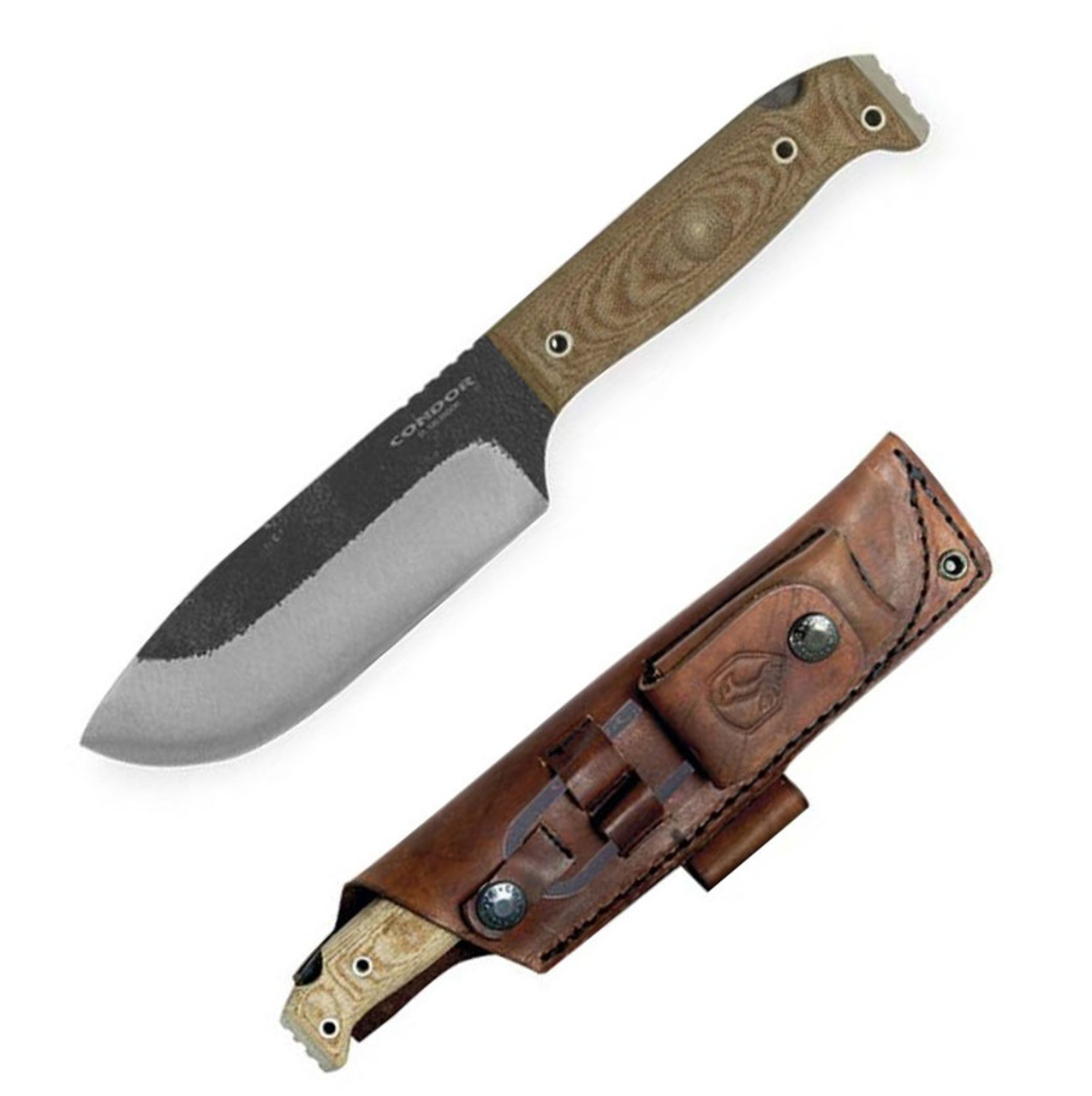 Condor Selknam Knife CTK3921-5.1HC, 5.1 in. 1075 High Carbon Steel, Micarta Handle