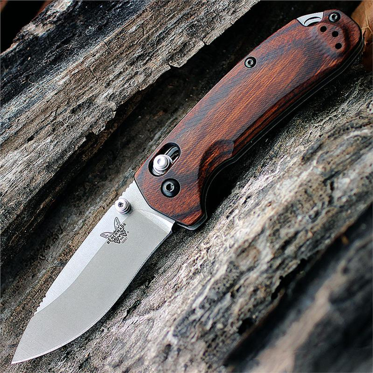Benchmade HUNT North Fork Axis-lock Folder, 15031-2, 2.97 in. CPM-S30V Blade, Wood Handle